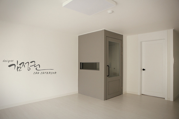 김정권디자이너 Modern Living Room Bricks White