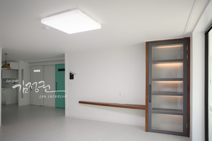 김정권디자이너 Modern Dining Room MDF Grey