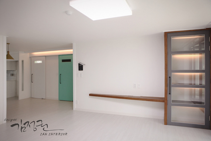 김정권디자이너 Modern Living Room Marble Grey