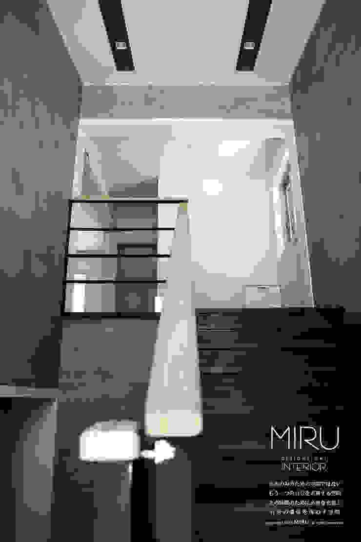 미루디자인 Modern corridor, hallway & stairs