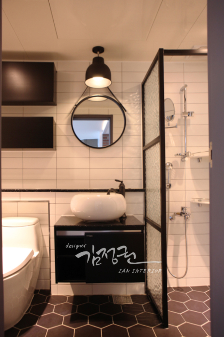 한빛 아파트 모던스타일 욕실 by 김정권디자이너 모던 MDF