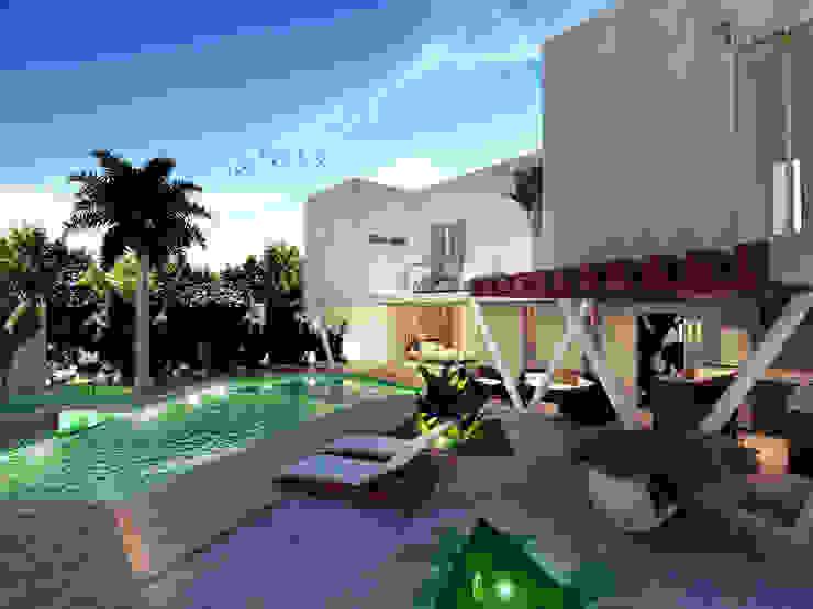 Piscina Albercas modernas de Armonía arquitectos Moderno