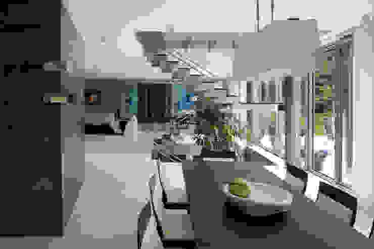 Minimalist dining room by Biuro Studiów i Projektów Architekt Barbara i Piotr Średniawa Minimalist