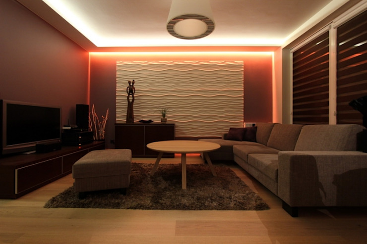 Panele gipsowe 3D Loft Design System, Dekory 21-30 Nowoczesne ściany i podłogi od DecoMania.pl Nowoczesny