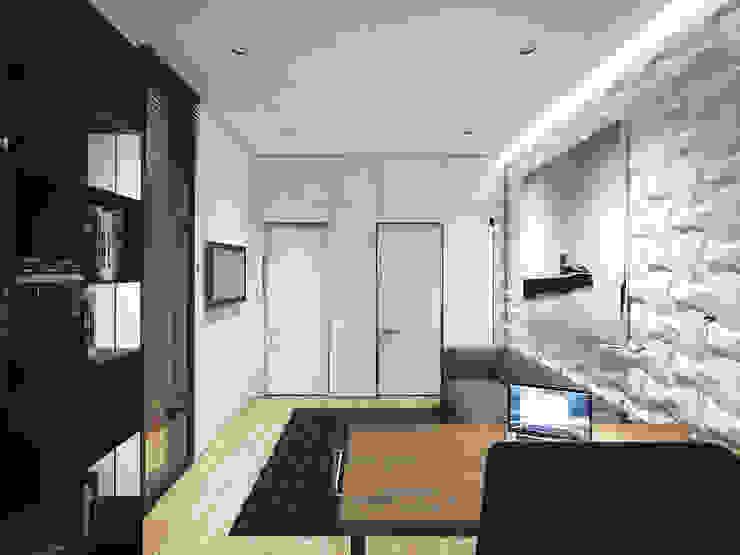 ЖК <q>Обыкновенное Чудо</q> на Мосфильмовской Рабочий кабинет в стиле минимализм от Y.F.architects Минимализм