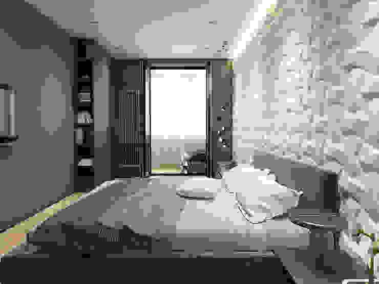 ЖК <q>Обыкновенное Чудо</q> на Мосфильмовской Спальня в стиле минимализм от Y.F.architects Минимализм