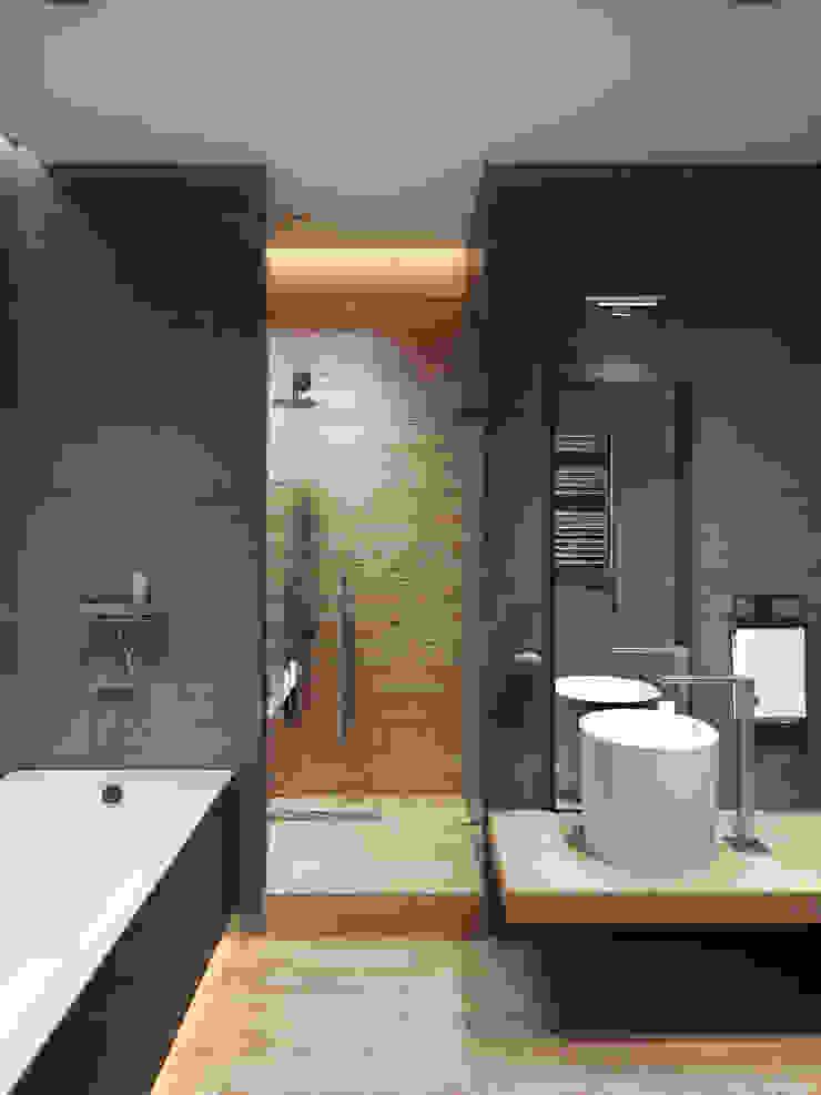 ЖК <q>Обыкновенное Чудо</q> на Мосфильмовской Ванная комната в стиле минимализм от Y.F.architects Минимализм