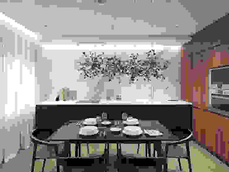 12 квартал Кухня в стиле минимализм от Y.F.architects Минимализм