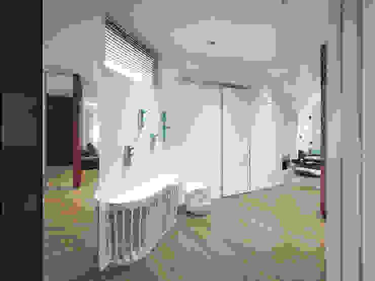 12 квартал Коридор, прихожая и лестница в стиле минимализм от Y.F.architects Минимализм