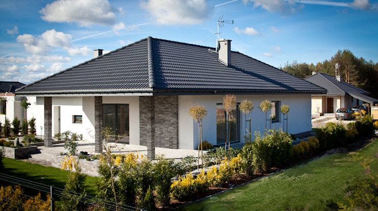 Casas de estilo  por Biuro Projektów MTM Styl - domywstylu.pl,