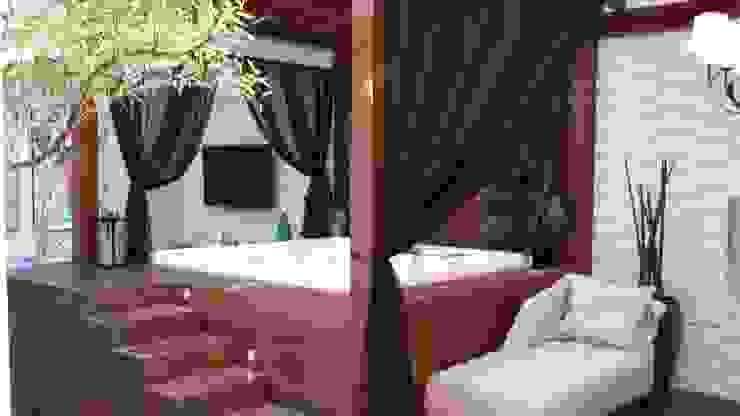 CASA CONDOMÍNIO FECHADO – SBC Spa moderno por Trends Casa Arquitetura e Design Moderno Madeira Efeito de madeira