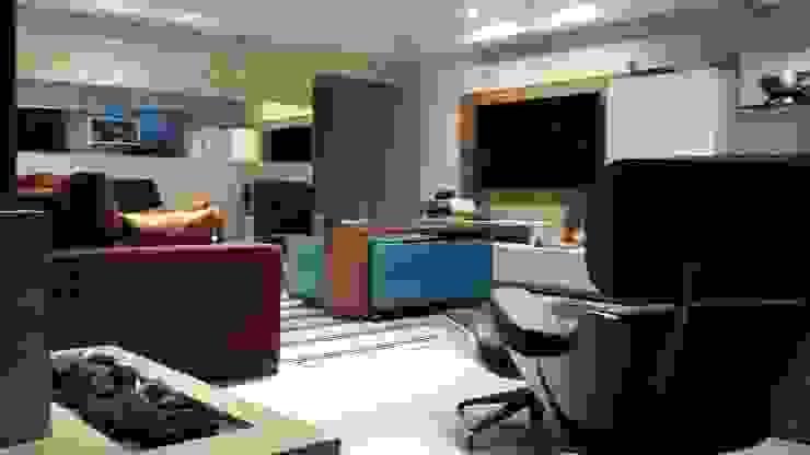 SALA DE ESTAR – BAIRRO JARDIM – SANTO ANDRÈ Salas de estar modernas por Trends Casa Arquitetura e Design Moderno