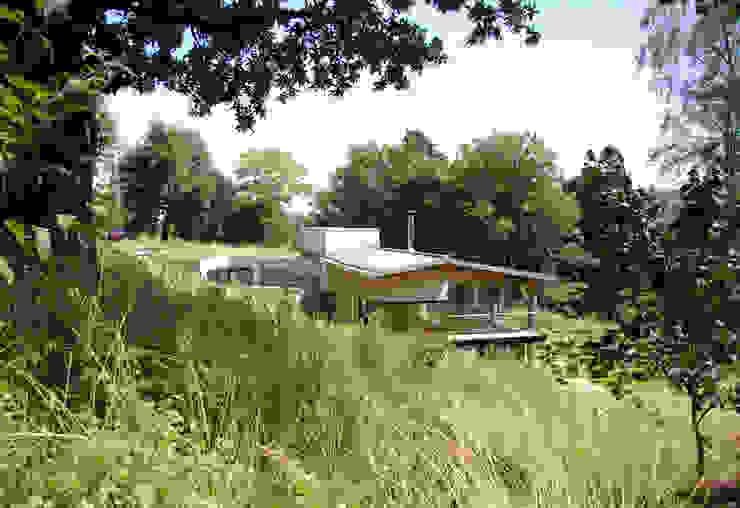 Twinneys Balcon, Veranda & Terrasse modernes par Designscape Architects Ltd Moderne