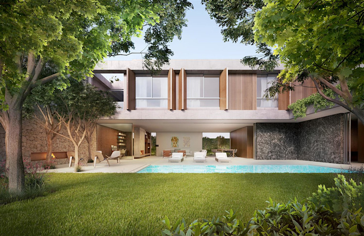 Maisons de style  par Mader Arquitetos Associados, Minimaliste