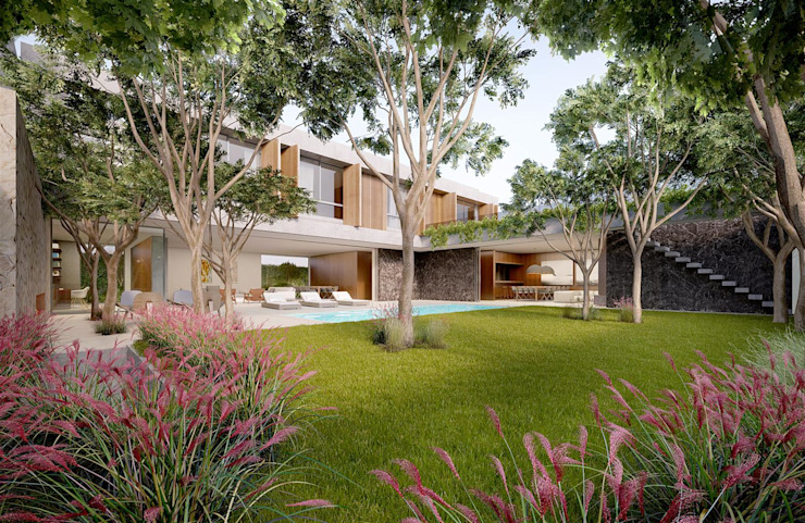 Casa H Jardim Casas minimalistas por Mader Arquitetos Associados Minimalista