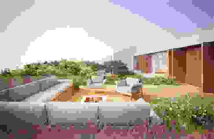 Casa H Terraço Varandas, alpendres e terraços minimalistas por Mader Arquitetos Associados Minimalista