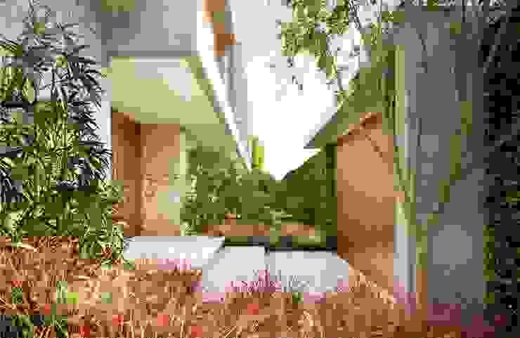 Casa H Acesso Jardins minimalistas por Mader Arquitetos Associados Minimalista