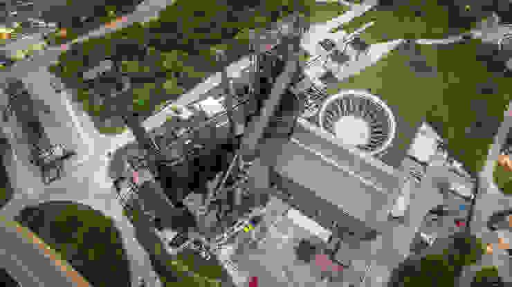 VISTA AEREA Museos de estilo industrial de HARARI LANDSCAPE Industrial