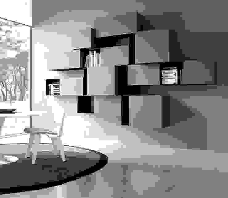 parete soggiorno minimalista di CORDEL s.r.l. Minimalista Legno Effetto legno