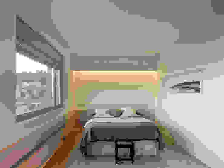 rehabilitación integral en Cangas rodríguez + pintos arquitectos Dormitorios de estilo moderno