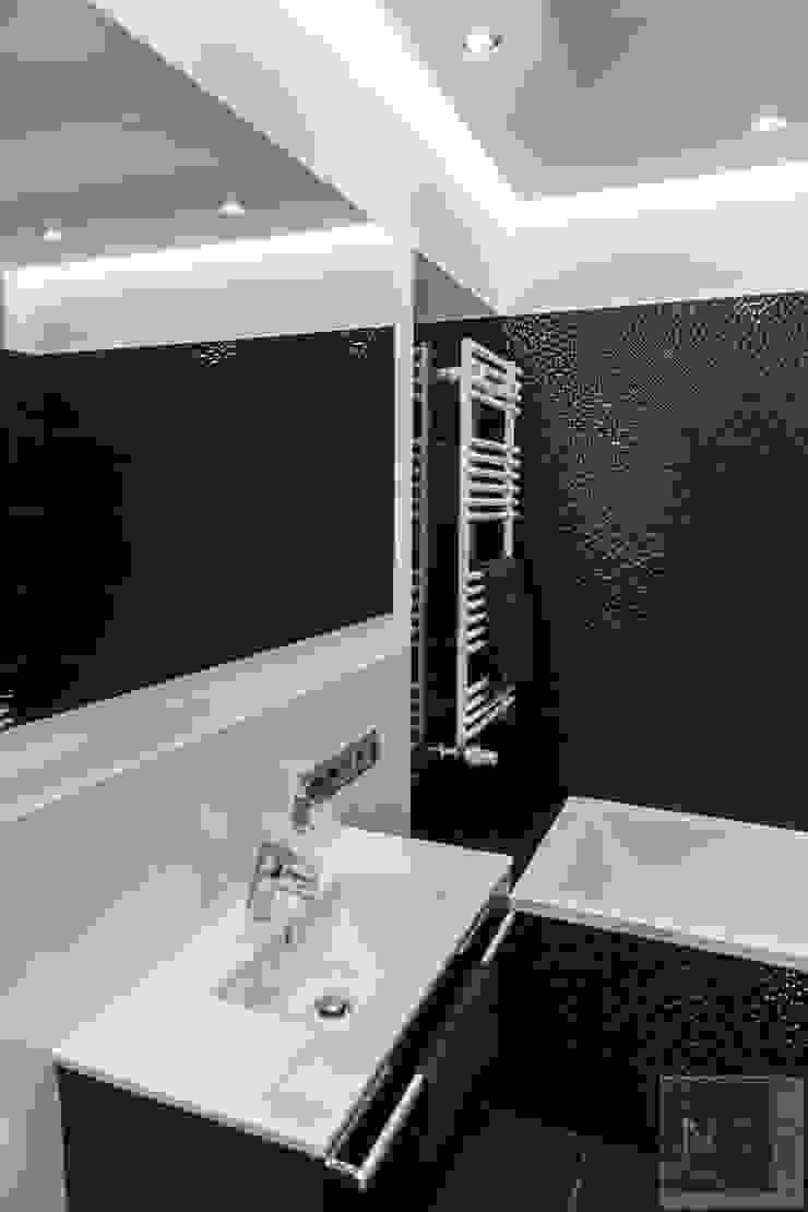 Czarno-biała łazienka Nowoczesna łazienka od Suare Studio Natalia Margraf-Wojciechowska Nowoczesny