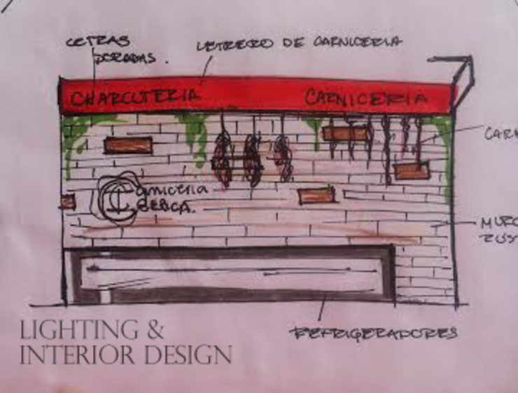 Carnicería Ibérica Espacios comerciales de estilo moderno de Lighting Interior Design Moderno