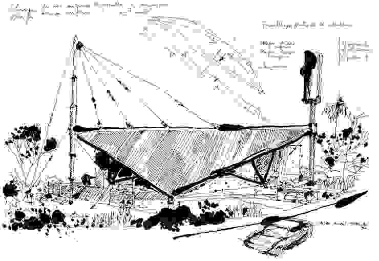 Croqui por Carlos Bratke Arquiteto Moderno
