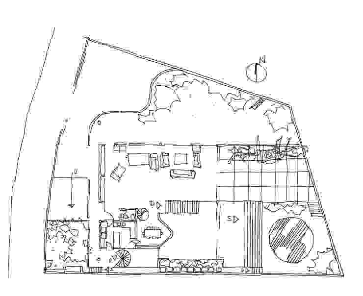Planta do Térreo por Carlos Bratke Arquiteto Moderno