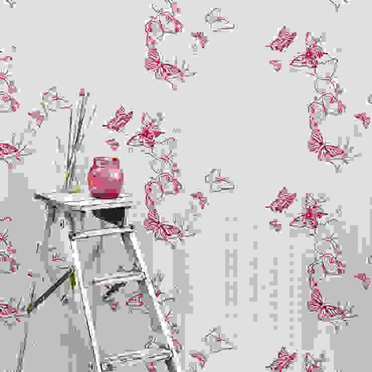 Barneby Gates wallpaper - Bugs and Butterflies Dust Paredes y suelosPapeles pintados Rojo