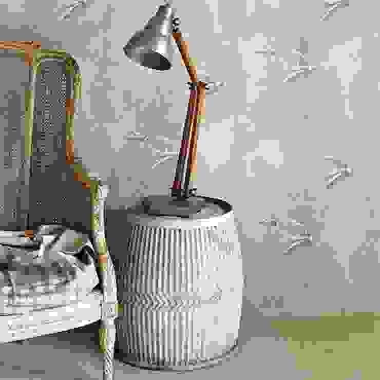 Barneby Gates wallpaper - Fresco Birds Dust Paredes y suelosPapeles pintados Metálico/Plateado