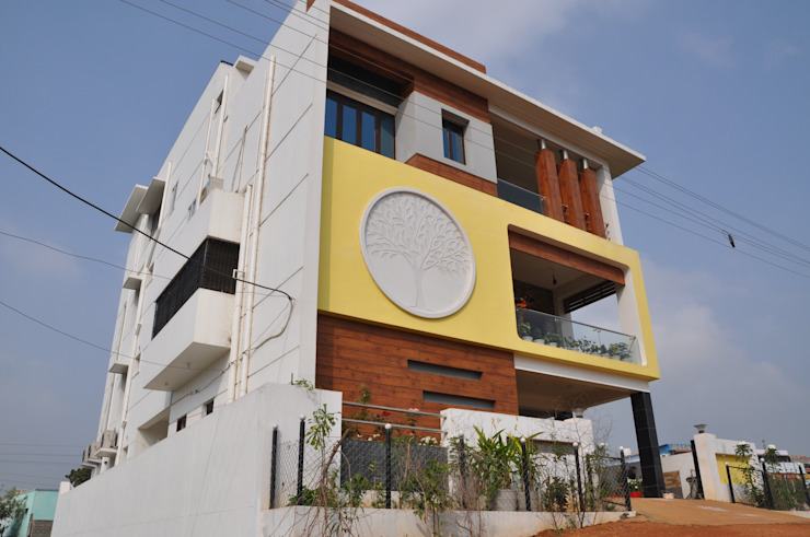 Exterior Elevation Modern houses by DESIGNER GALAXY Modern