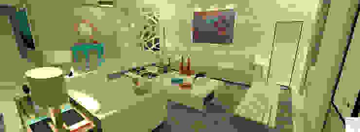 O living da atriz Salas de estar modernas por Rangel & Bonicelli Design de Interiores Bioenergético Moderno