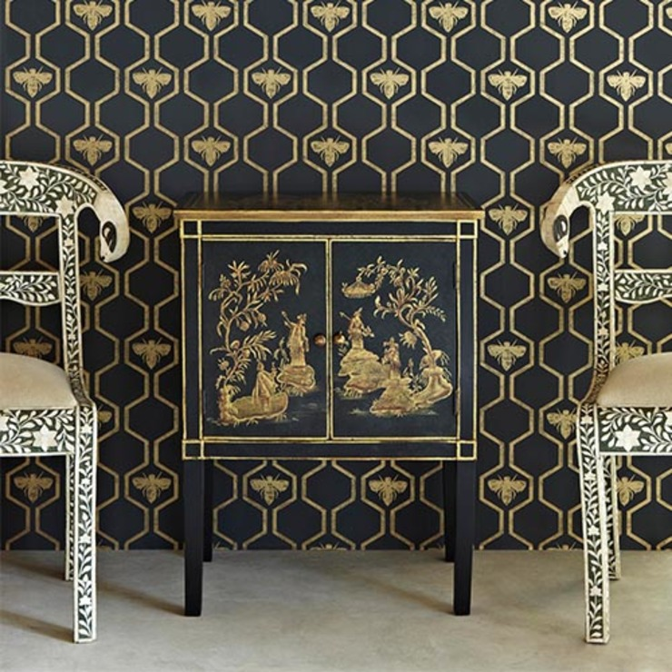 http://www.dust.ie/collections/barneby-gates/products/barneby-gates-wallpaper-bees Dust Paredes y suelosPapeles pintados Ámbar/Dorado