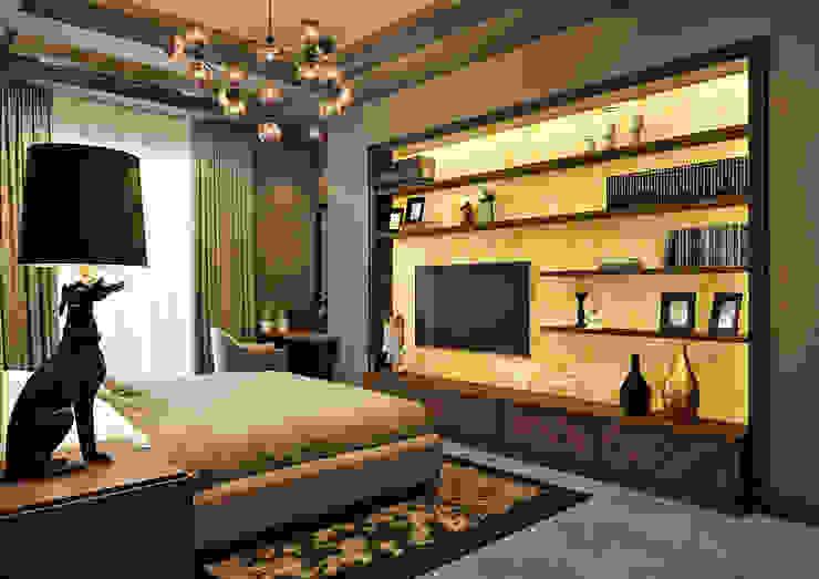 Спальня Rash_studio Спальня в эклектичном стиле