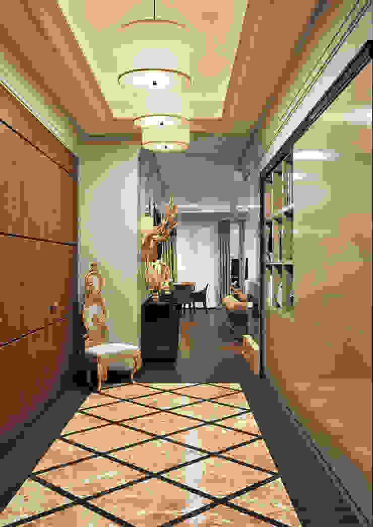 Couloir, entrée, escaliers originaux par Rash_studio Éclectique