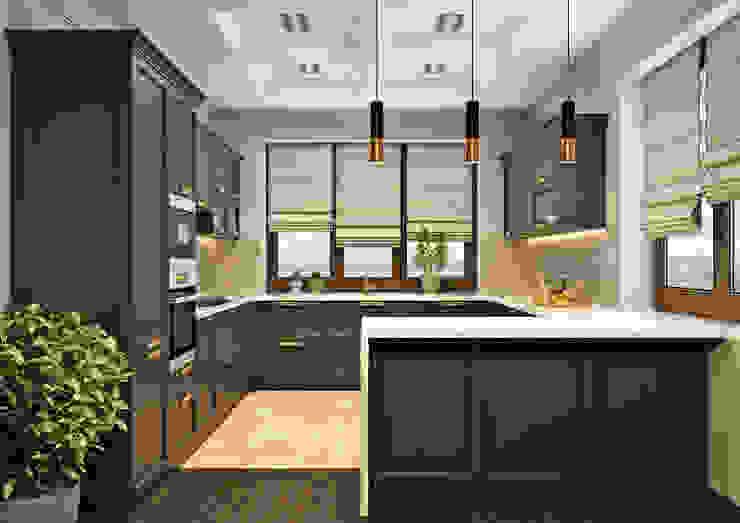 Кухня Rash_studio Кухни в эклектичном стиле