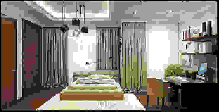 Комната подростка Rash_studio Детские комната в эклектичном стиле