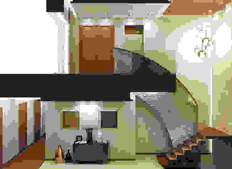 Холл Коридор, прихожая и лестница в модерн стиле от Rash_studio Модерн