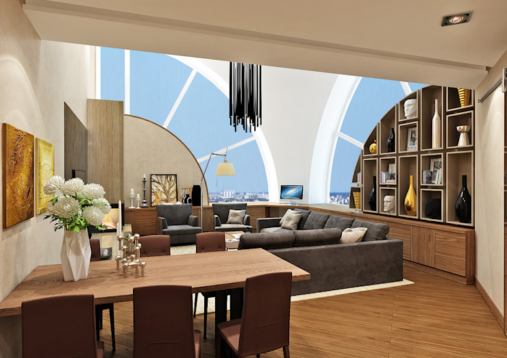 Студия Гостиная в стиле модерн от Rash_studio Модерн