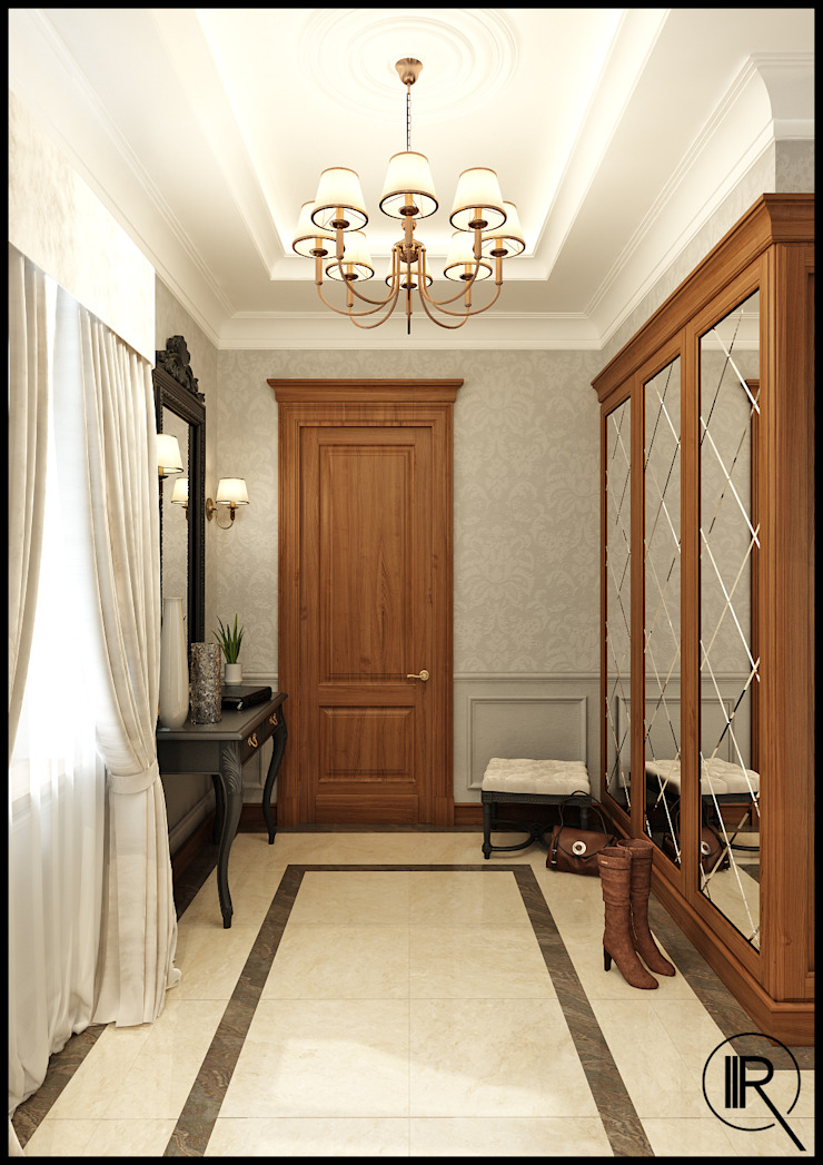 Прихожая Коридор, прихожая и лестница в классическом стиле от Rash_studio Классический