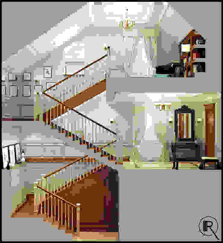 Лестница Коридор, прихожая и лестница в классическом стиле от Rash_studio Классический