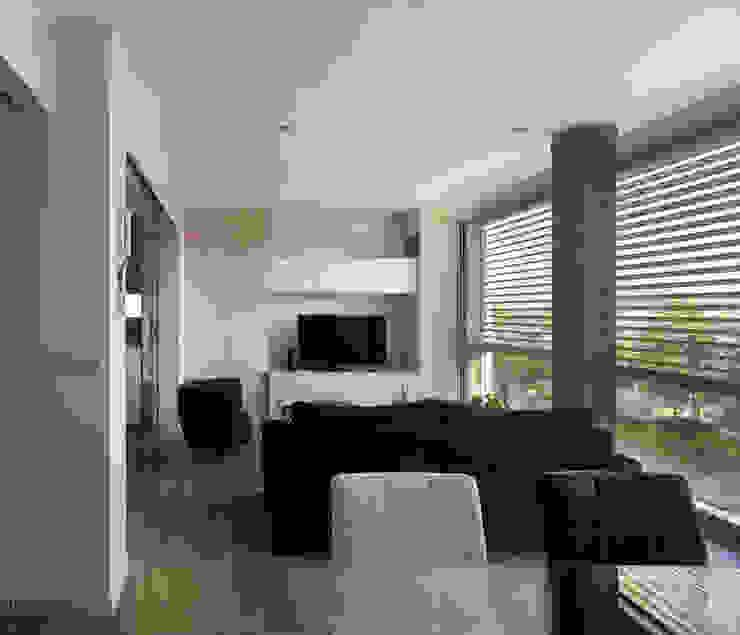 rehabilitación integral en Cangas rodríguez + pintos arquitectos Salones de estilo moderno