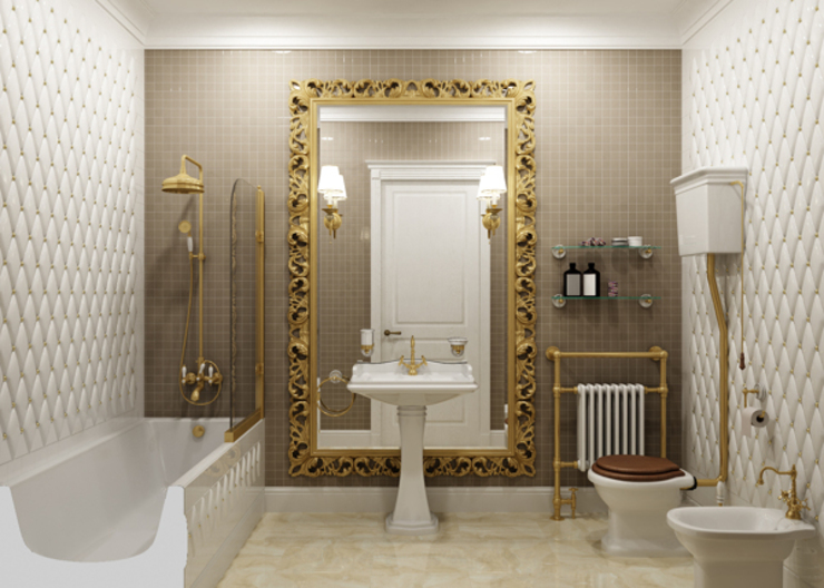 Rash_studio Eclectic style bathroom