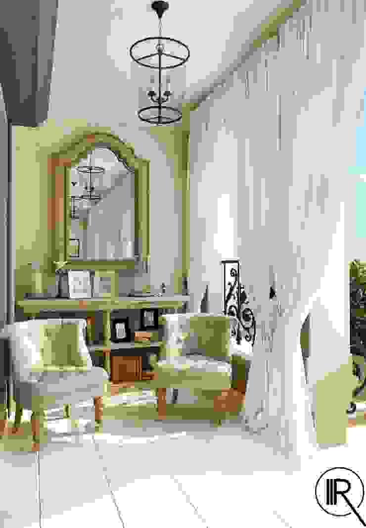 Rash_studio Mediterranean style balcony, veranda & terrace