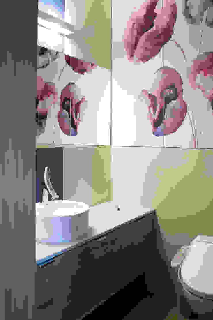 Intymna łazienka przy sypialni Nowoczesna łazienka od deco chata Nowoczesny