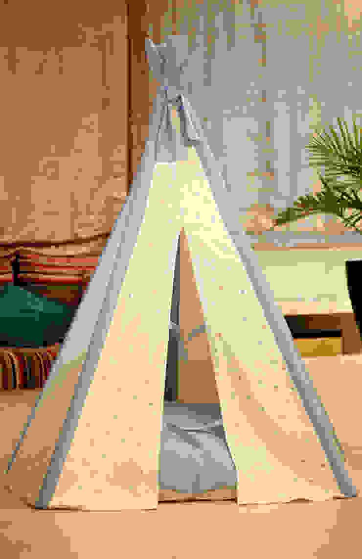 Blue Stars Tipi por Tipi Kids Moderno Têxtil Ambar/dourado