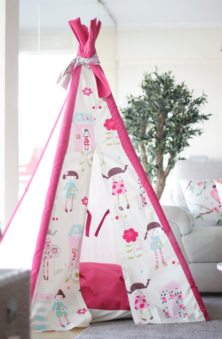 Dolly´s House Tipi por Tipi Kids Moderno Têxtil Ambar/dourado