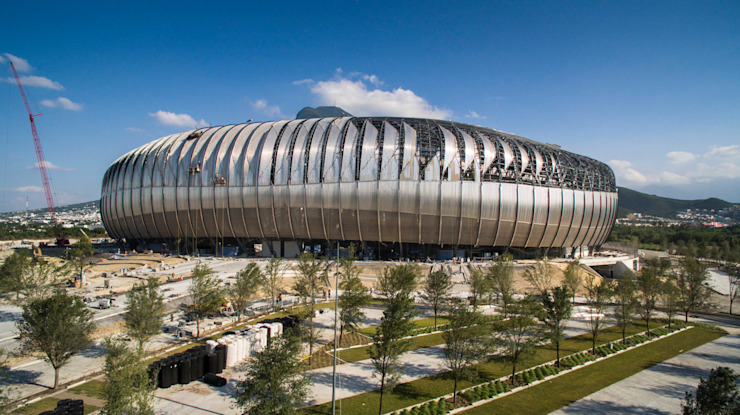 ESTADIO BBVA MONTERREY Estadios de estilo moderno de HARARI LANDSCAPE Moderno