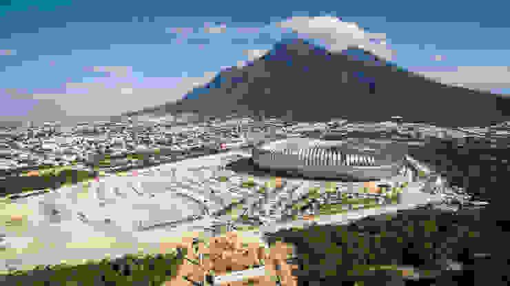 Al pie del Cerro de la Silla Estadios de estilo moderno de HARARI LANDSCAPE Moderno