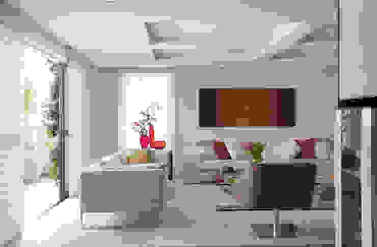 Apartamento Higienópolis Salas de estar modernas por Marcelo Rosset Arquitetura Moderno